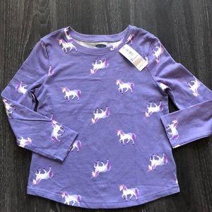 Old Navy NWT unicorn long sleeve top